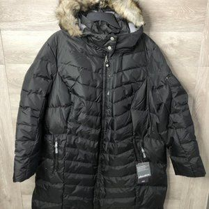 Eddie Bauer Womens 3X Sun Valley Down Parka Black